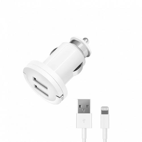 Deppa автомобильная зарядка Ultra MFI + кабель 2.1A