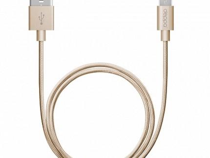 Deppa Micro USB Gold 1.2m