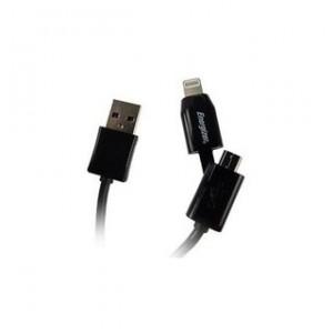 Energizer Lightning + MicroUSB Black 1.0m