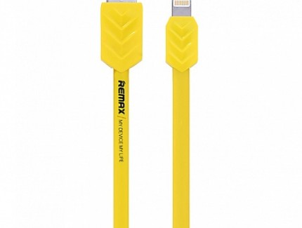 Remax Lightning Fishbone Yellow 1.0m