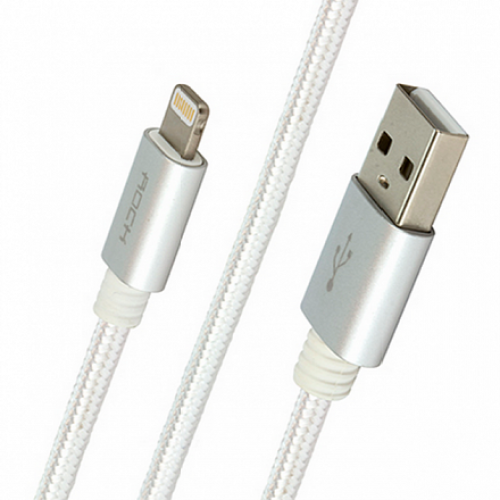 Rock MFI Charge Sync Round Cable White 1.8m